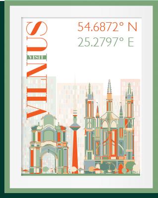Vilnius framed
